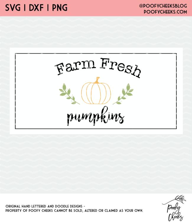 farm fresh pumpkin cut file