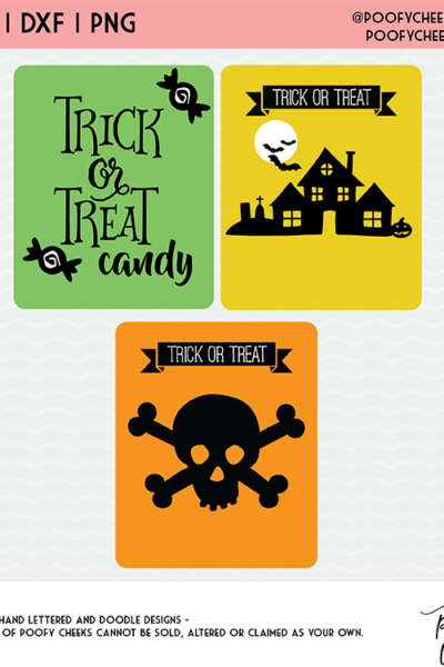 Halloween Cut File Mini Bundle – Skeleton, Haunted House and Trick or Treat Candy