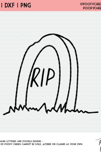RIP Halloween Gravestone Cut File – For Silhouette and Cricut Machines