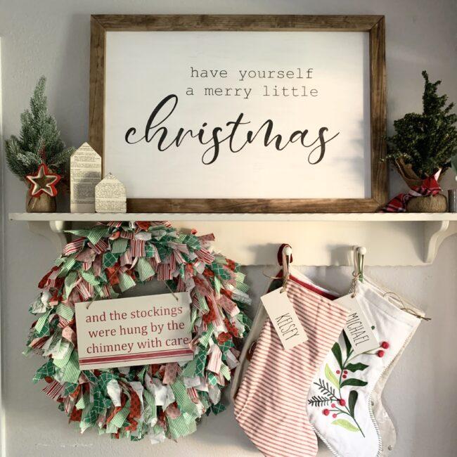 Merry Little Christmas cut file
