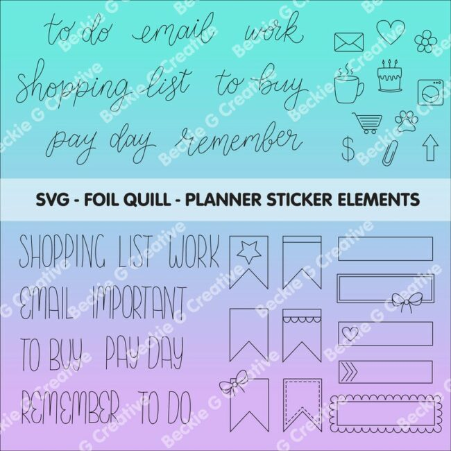15 Planner Cut Files from around the web. Use with Cricut and/or Silhouette machines.