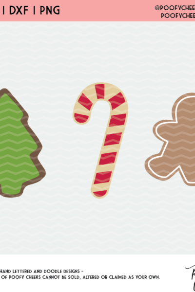 Christmas Cookie Cut File – Free SVG, PNG and DXF