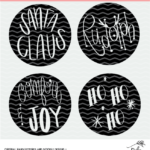 christmas word cut files- digital designs