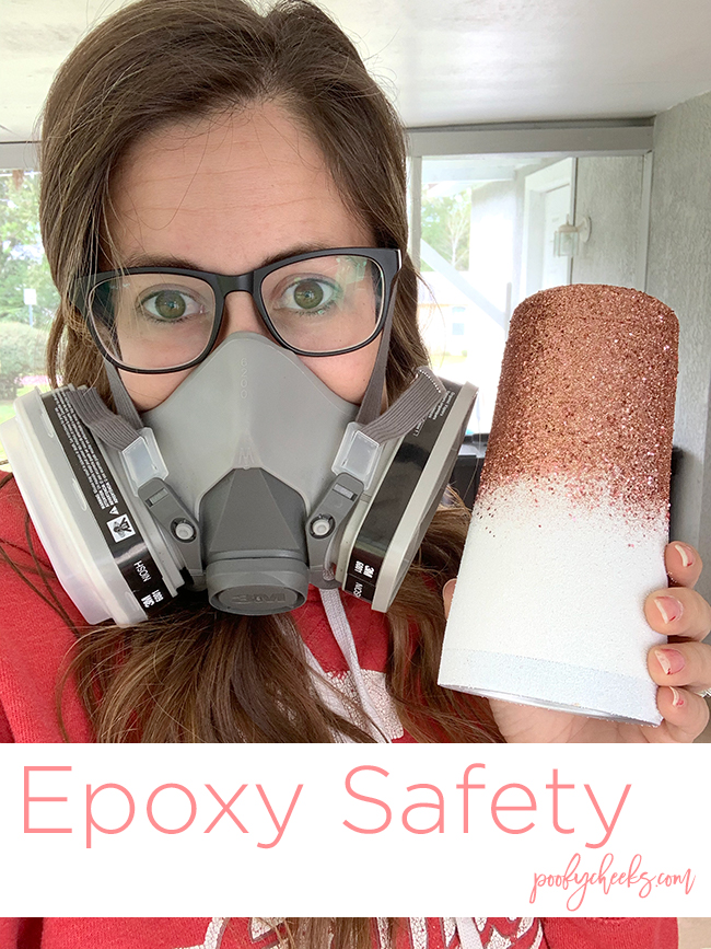 wearing mask for epoxy safety
