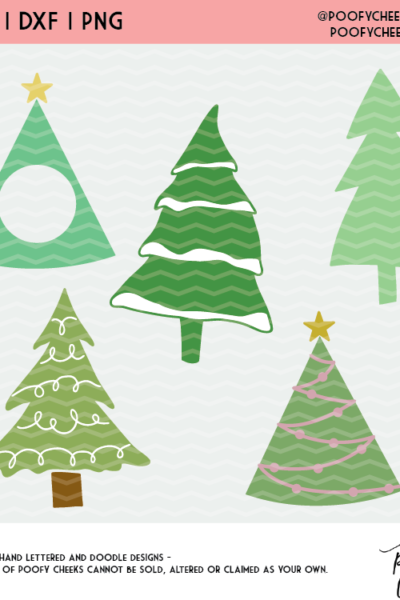 Christmas Tree Cut File Mini Bundle – SVG, DXF and PNG –  Cricut and Silhouette