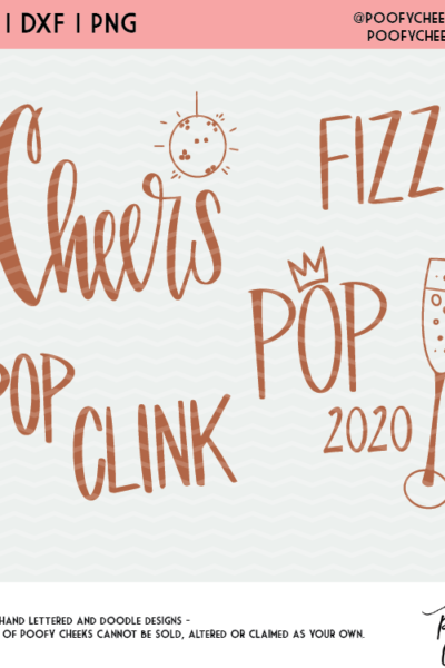New Year Cut File Mini Bundle – SVG, PNG and DXF