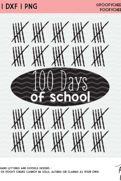 100th Day of School Cut File – Free SVG, DXF and PNG