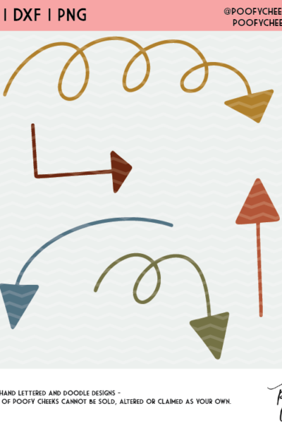 Doodle Arrow Cut Files – PNG, SVG and DXF