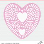 Heart Doily Cut File