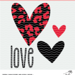 Love and Hearts Valentine's Digital Design