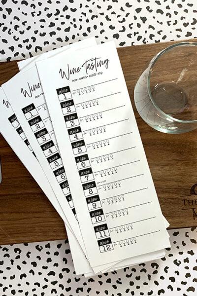 Wine Tasting Printable – Wine & Cheese Party