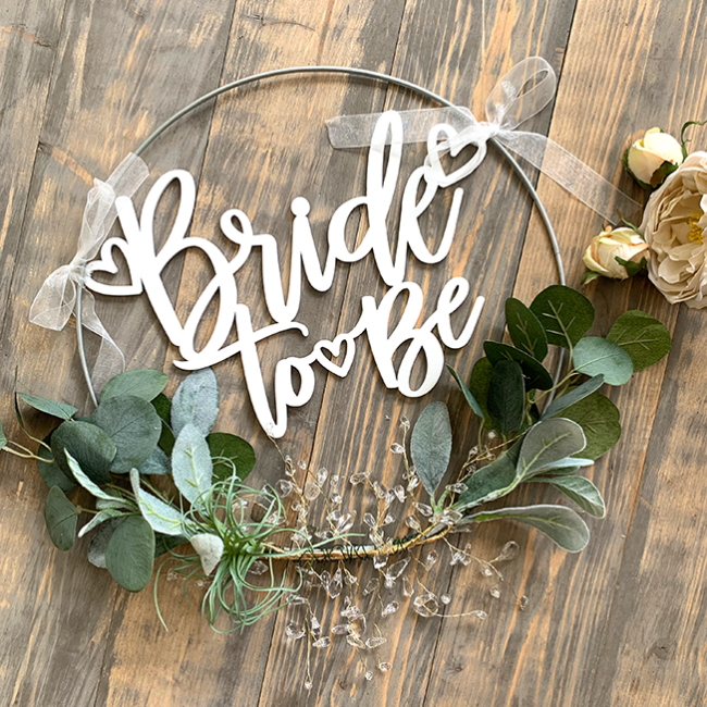 DIY Bridal Shower Hoop Tutorial