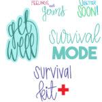 Get Well Cut File Bundle - Digital Designs