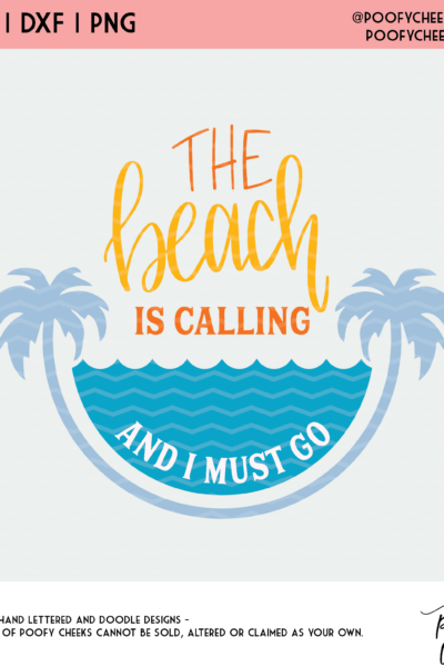 Beach Cut File – SVG, DXF and PNG for Cutting Machine
