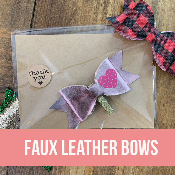 Faux Leather Bow Tutorial