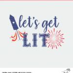 Let's Get Lit Digital Design - SVG, DXF and PNG