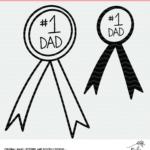 No. 1 Dad Award Cut File for Silhouette and Cricut