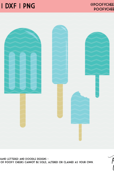 Popsicle Summer Birthday Cut File – SVG, DXF and PNG