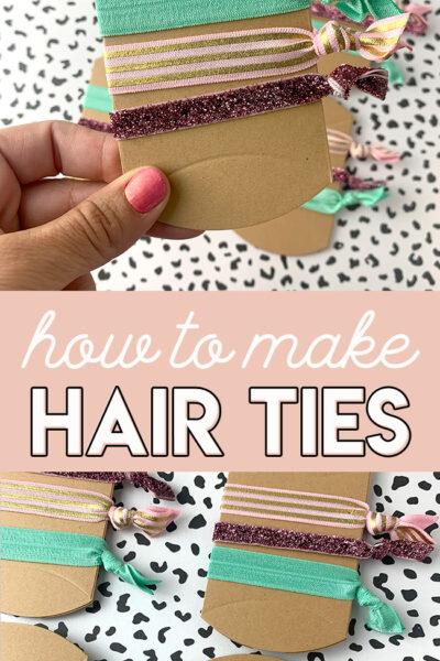 DIY Fold Over Elastic Hair Tie Tutorial
