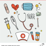 Nurse Cut File - PNG SVG and DXF