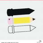 Pencil Back to School Cut File