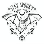 Spooky Cut Files - Halloween SVG, DXF and PNG files.