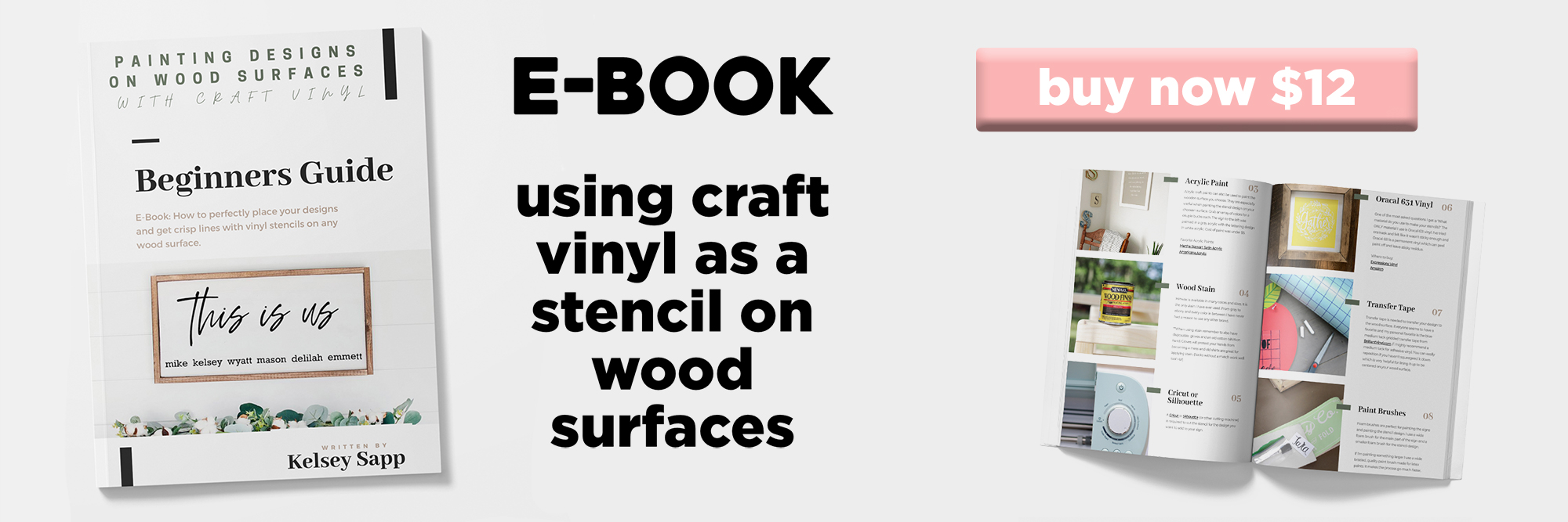 Craft Vinyl Stencil E-Book