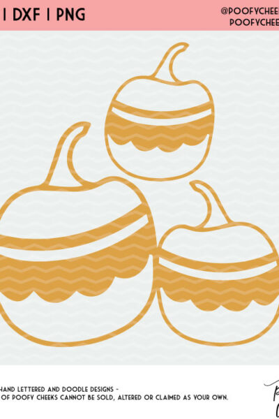 Fun Pumpkin Cut File – SVG, DXF and PNG for Silhouette and Cricut