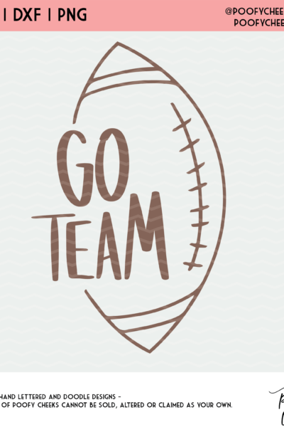 Go Team Footall Cut File – Free Sports SVGs for Silhouette and Cricut