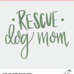 Rescue Dog Cut File - Digital Download