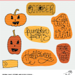 Halloween Planner Stickers - Digital Design