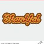 Layered Thankful Cut File