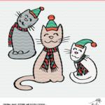 Christmas Cat Cut File