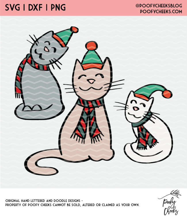 Christmas Cat Cut File
