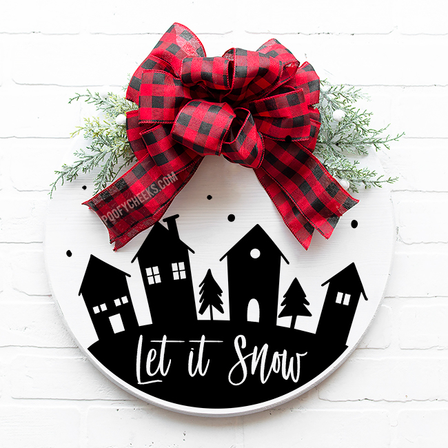 Let it Snow Christmas Town Digital Design