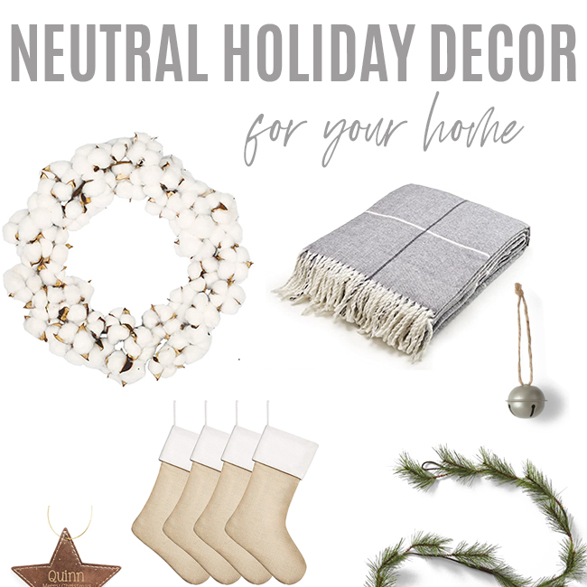 Neutral Christmas Decor FInds