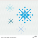 Snowflakes cut file - digital design