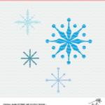 Snowflakes cut file - digital design