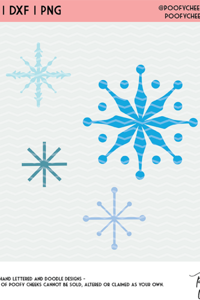 Snowflakes Cut File – SVG, DXF and PNG for Silhouette and Cricut