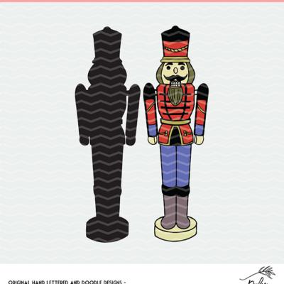 Nutcracker Cut File - Clipart Digital Design