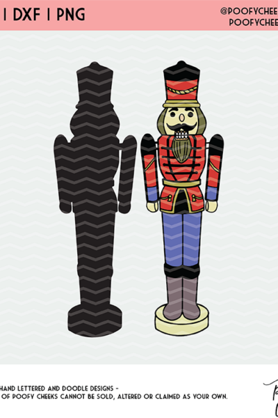 Nutcracker Cut File SVG, DXF, PNG for Silhouette and Cricut