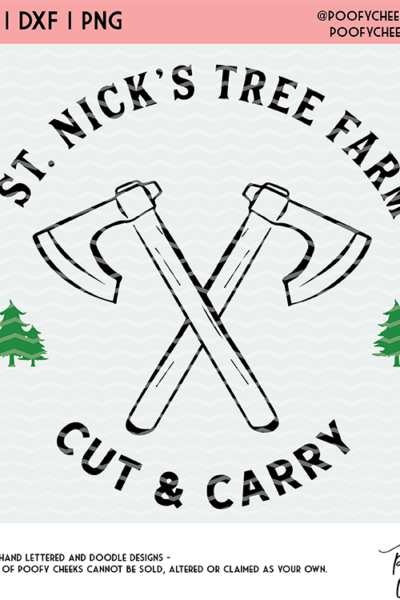 St. Nick's Tree Farm Cut File – SVG, DXF, PNG for Cricut and Silhouette