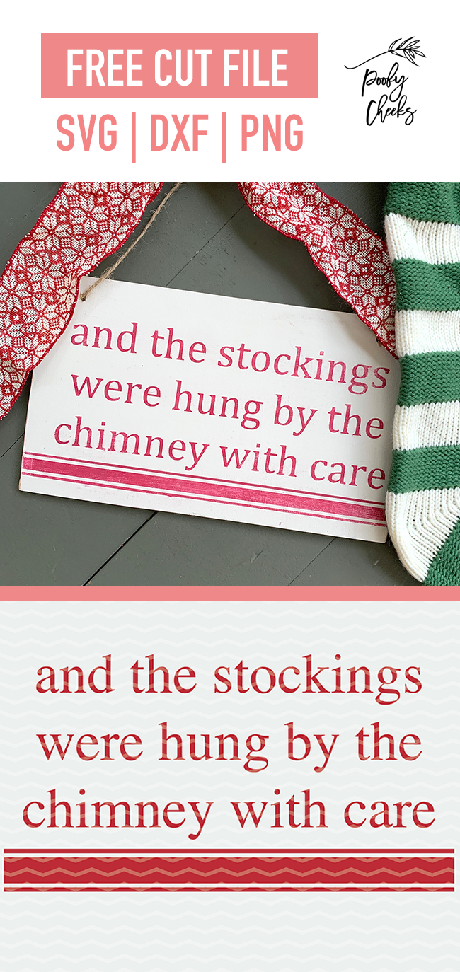 Stockings Were Hung Cut File
