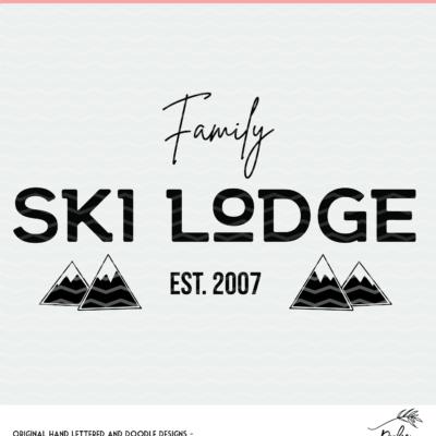 Ski Lodge Cut File