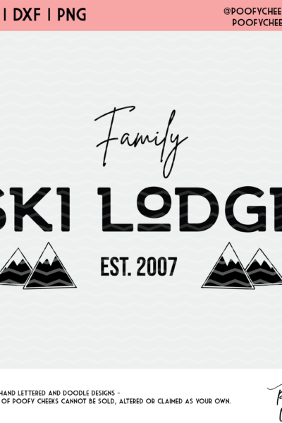 Ski Lodge Cut File for Silhouette and Cricut – SVG, DXF and PNG