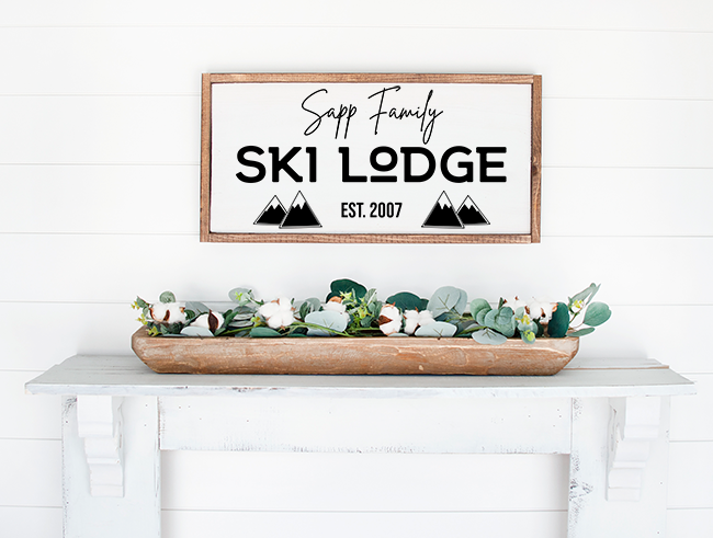 Ski Lodge Cut File
