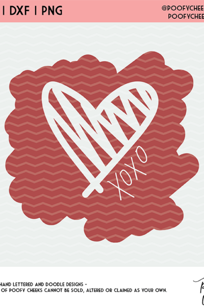 Scribble Heart Cut File – SVG, DXF, PNG for Cricut and Silhouette Cameo