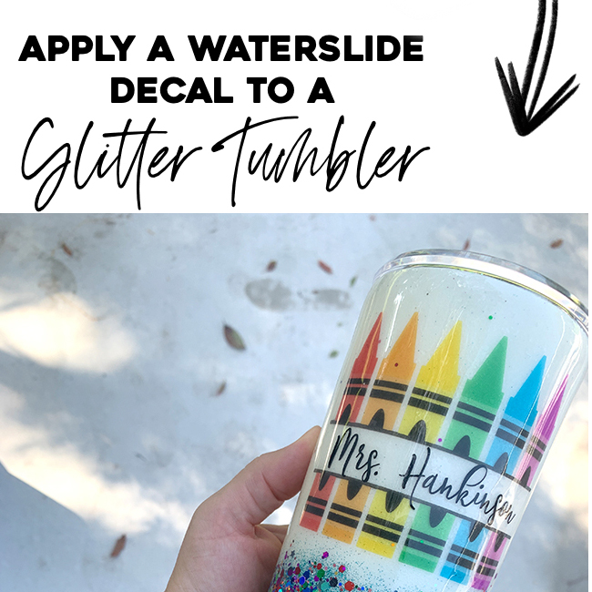 How to apply waterslide paper to a tumbler.