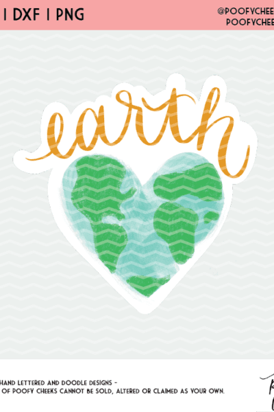 20 Earth Day Cut Files – Watercolor Earth – SVG, PNG for Cricut and Silhouette