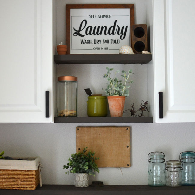 Farmhouse Laundry Room Before and After